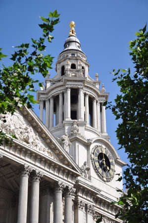 st pauls: Clock of St. Pauls Cathedral in London England