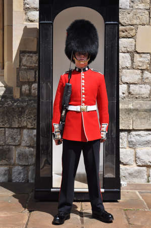 LONDON, ENGLAND - June 17: Queens Guard at Tower of London on June 17, 2012 in London, England