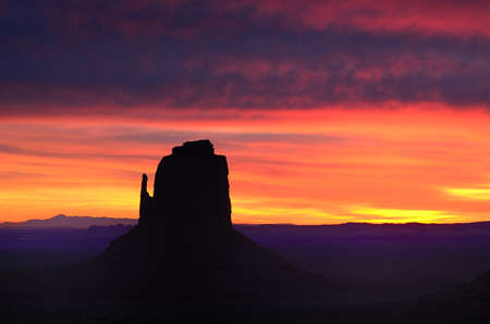 Colorful Red Sunrise East Mitten Butte, Monument Valley  Navajo Permit on File
