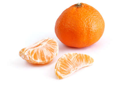 Clementine Mandarin Orange - Tangerine Isolated on a White Background Zdjęcie Seryjne