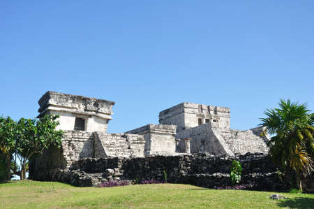 Mayan Ruins at Tulum in Mexico On a Sunny Day