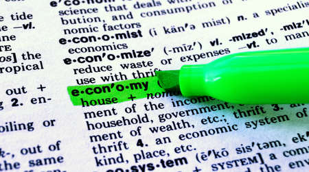 The Word Economy Highlighted in a Dictionary