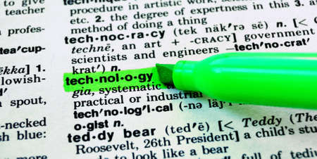 The Word Technology Highlighted in a Dictionary