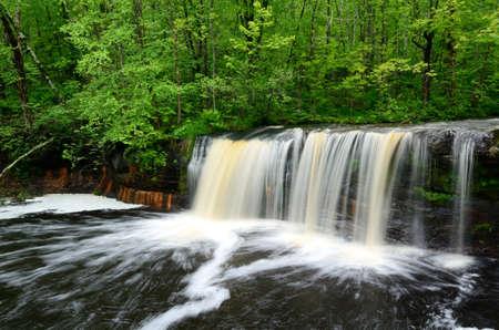 Wolf Creek Falls, Banning State Park Minnesota Reklamní fotografie