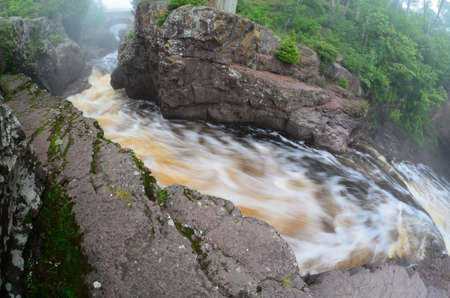 Fish Eye View of the Temperance River, Temperance River State Park in Minnesota