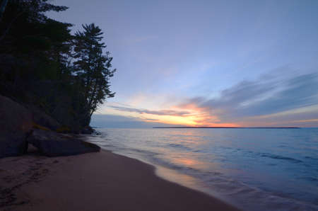 Lake Superior Sunset, Sand Island of the Apostle Islands in Wisconsin