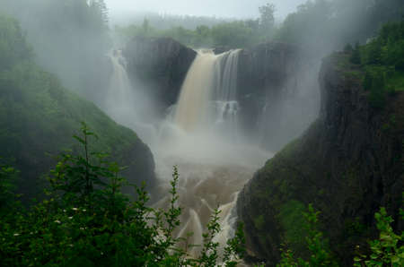 The High Falls of the Pigeon River, Grand Portage State Park in Minnesota Zdjęcie Seryjne
