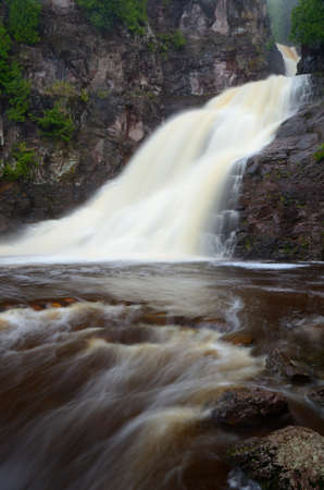 caribou: Caribou Falls in Northern Minnesota Stock Photo