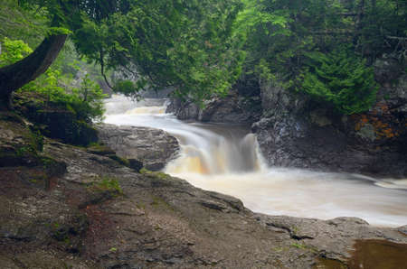 Waterfalls on the Cascade River,  Cascade River State Park Minnesota