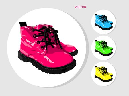 colored baby boots
