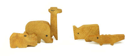 Five wooden toys Stock Photo - 16934977
