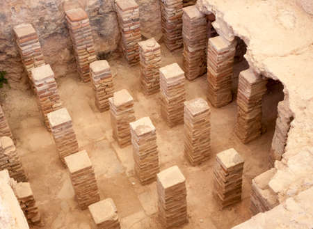 Ancient antifacts from the Roman city of Kourian in Cyprus photo