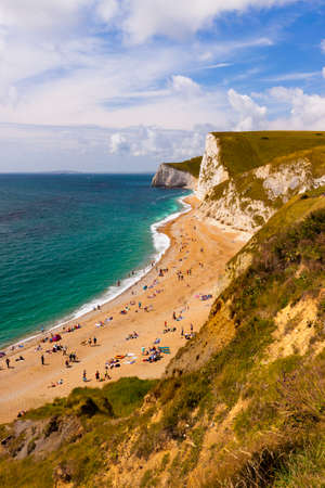 dungy: Geologically important and stunningly beautiful Dorset coastline Stock Photo