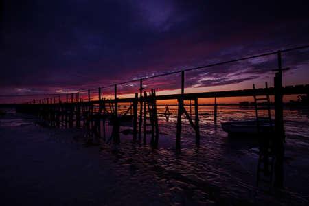dorset: The setting sun illuminates the scene in one of the most beautiful areas of Dorset Stock Photo