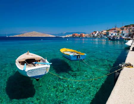 voyage: Île de Chalki, l'une des îles du Dodécanèse de la Grèce, à proximité de Rhodes.