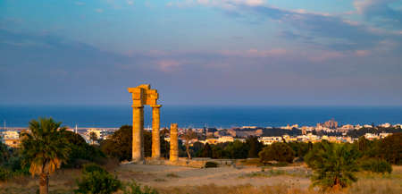 rhodes: Ruins of the acropolis in Rhodes