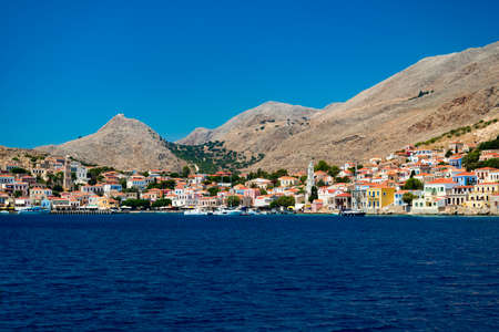 halki: Chalki Island, one of the Dodecanese islands of Greece, close to Rhodes.