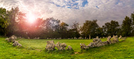 A collection of neolithic stones near Rollright, in Oxfordshire