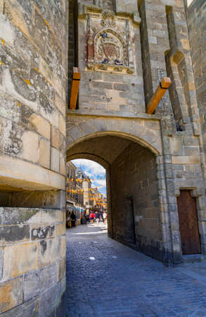 Medieval town walls, turrets and churches of Guerande, France Stok Fotoğraf