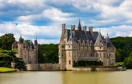 French chateau of 15th and 16th Century origins in the Pays de la Loire region Stock Photo