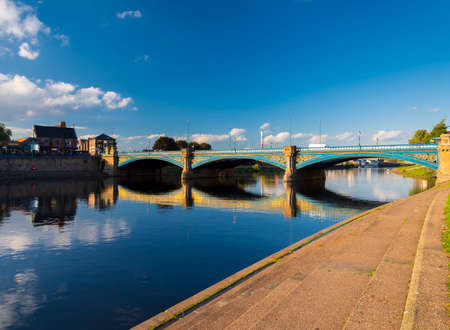 Reflections on the river Trent late in the afternoon on a spring day Standard-Bild
