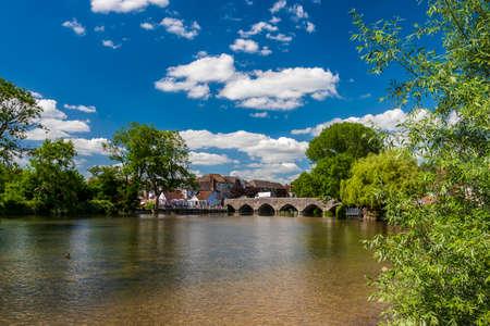 Multi-span stone bridge at Fordingbridge over the River Avon in Hampshire