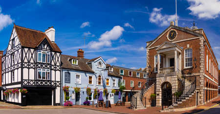 Panoramic view of Old Poole Town buildings