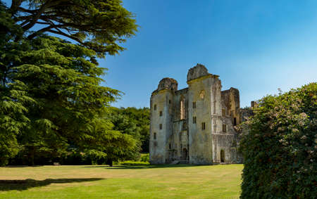 Ruin of the Old Wardour Castle, Tisbury, Wiltshire, UK