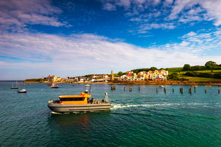 Pier and boats in Swanage, Dorset