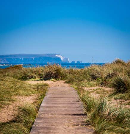 Views across Hengistbury Head in Dorset Stok Fotoğraf