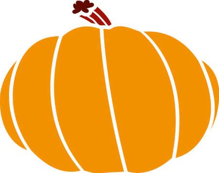 Big orange pumpkin. Vector illustration for Halloween Holiday or Thanksgiving Day Illustration