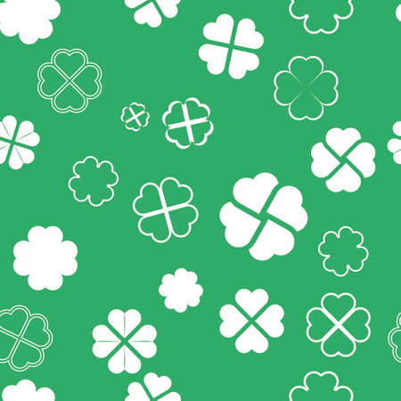 clovers: Clovers pattern. Background for St.Patricks day design