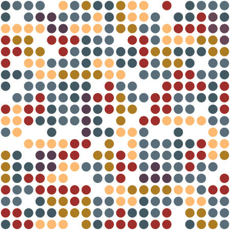 color balls: Color balls mosaic seamless pattern Illustration