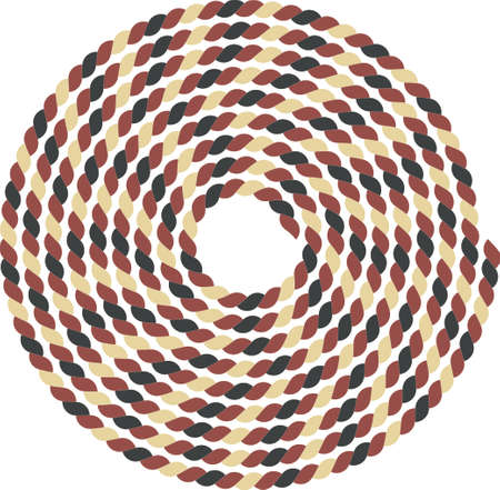 Ship rope curtailed into a spiral Illustration
