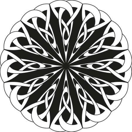 keltische muster: Round celtic pattern. Element of Celtic or Irish ornamen