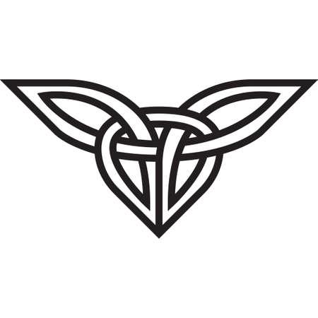 clover leaf shape: Celtic pattern. Element of Celtic or Irish ornament