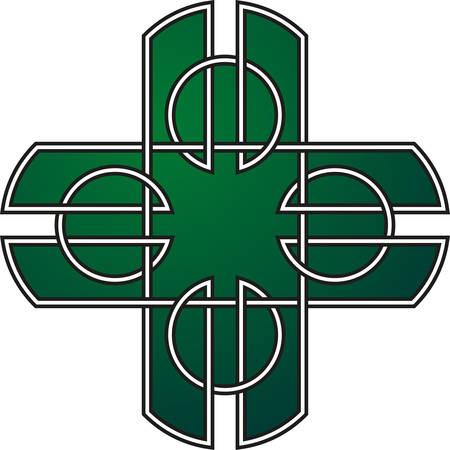 keltische muster: Celtic pattern. Element of Celtic or Irish ornament