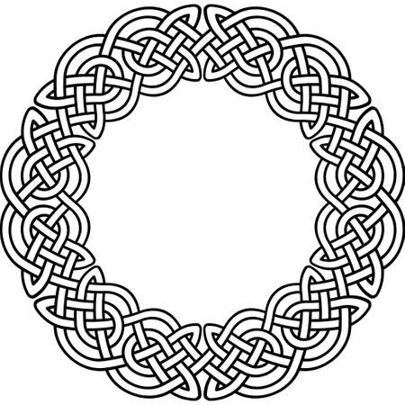 Celtic patroon. Element van de Keltische of Ierse ornament