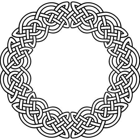 modello celtico. Elemento di ornamento celtica o irlandese