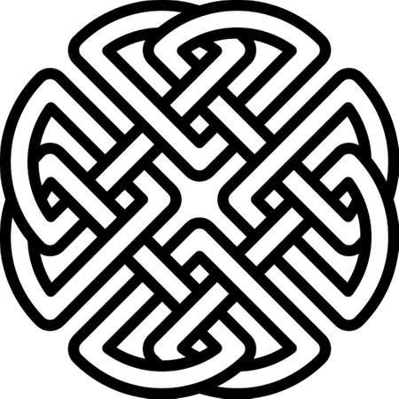 Pattern for Scandinavian or Celtic ornament. Vector illustration Stock Illustratie