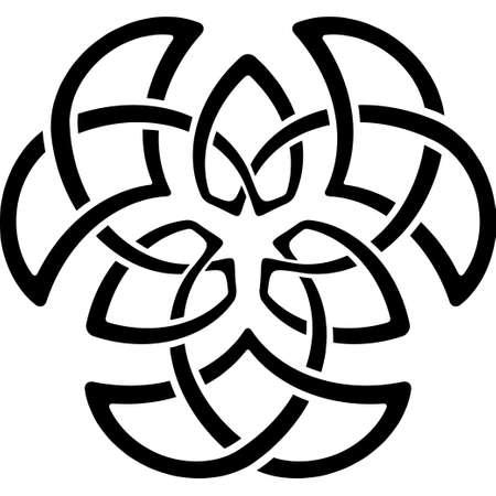 Monochrome Celtic pattern. Pattern for Scandinavian or Celtic ornament. Vector illustration Illustration