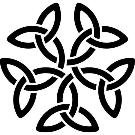 Monochrome Celtic pattern. Pattern for Scandinavian or Celtic ornament. Vector illustration Illustration