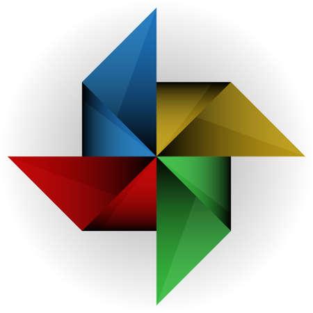 pinwheel toy: Paper windmill. Vector illustration