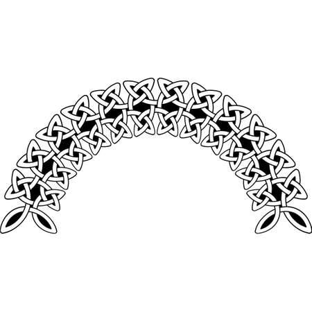 Modello celtico. Elemento di ornamento scandinavo o celtico Archivio Fotografico - 81232496