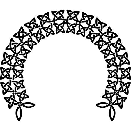 clover leaf shape: Celtic pattern. Element of Scandinavian or Celtic ornament Illustration