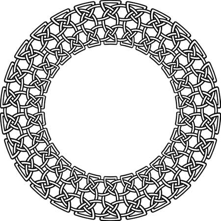 clovers: Celtic pattern. Element of Scandinavian or Celtic ornament Illustration