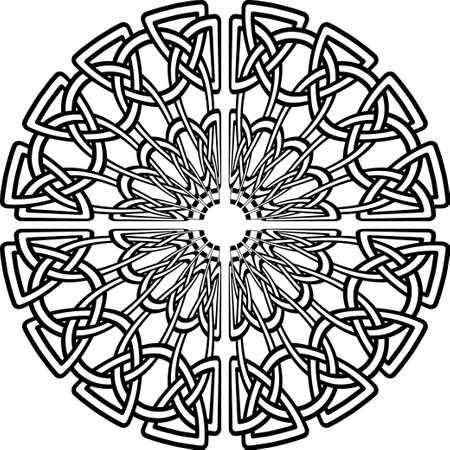 Celtic pattern. Element of Scandinavian or Celtic ornament Stock Illustratie
