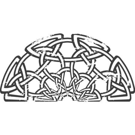 knotwork: Celtic pattern. Element of Scandinavian or Celtic ornament Illustration