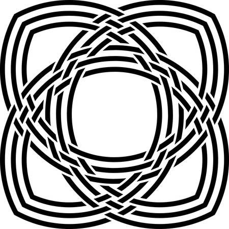Celtic pattern. Element of Scandinavian or Celtic ornament Illustration