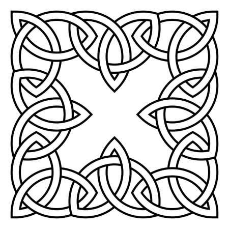 motif celtique. Elément d'ornement scandinave ou celtique